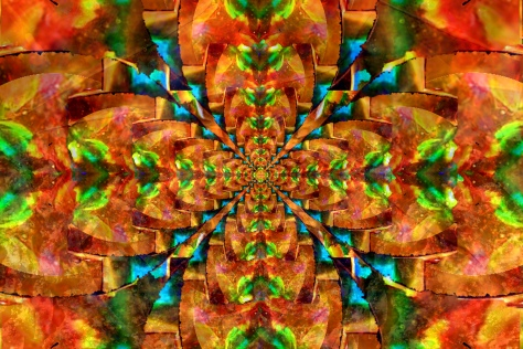 Spacial Orange Mandala