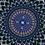 Mandala in the eye of the Hawk
