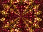 Ruby and Golden Fire Mandala