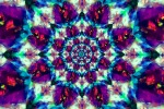 Mandala with Flame threads