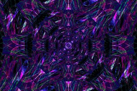 Purple Feather Mandala