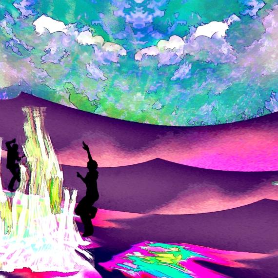 Fire Dancers in the Desert (R)