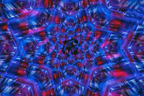 Red Blue Crystal Vision