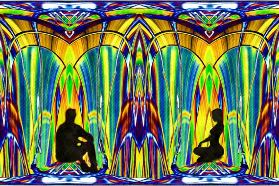 Conversation in the Jewelled Fountain