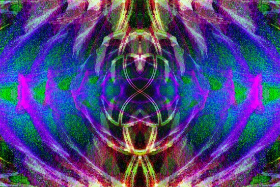 Abstract Fractal Caress in Green Space