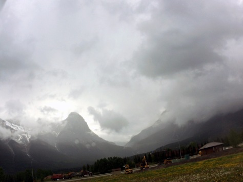Stormy Afternoon in Canadian Rockies