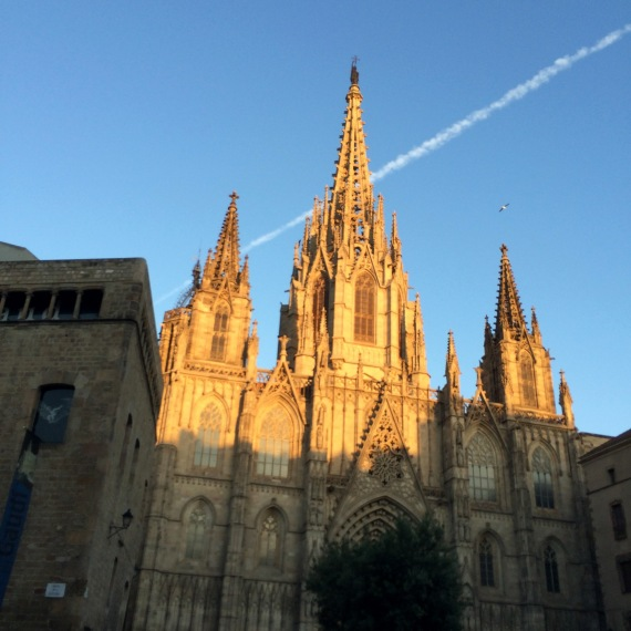 Sunset on the Barcelona Cathedral