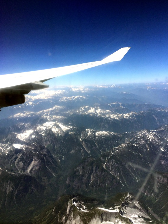 Back in BC Flying Over Mountains