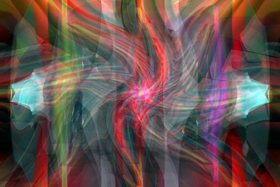 Abstract Images Appear in Multicoloured Fractal Flames
