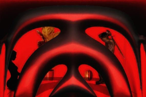 Through Red Windows